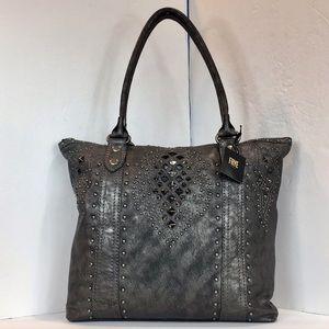 Frye Phoenix Studded Deco Handbag/Tote  MSRP $378